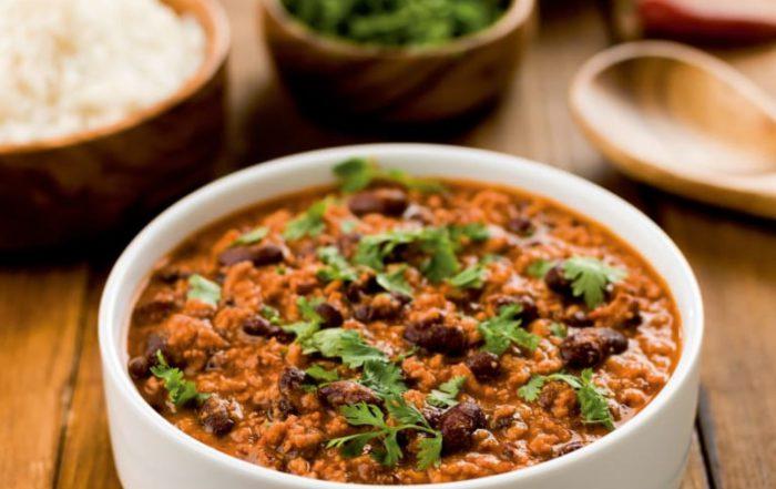 Vegetáriánus chilli con carne