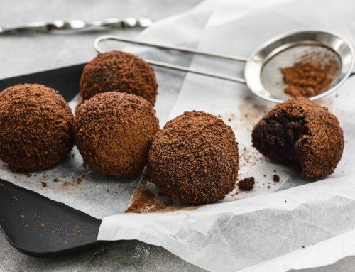 Szénhidrátcsökkentett csokis trüffelgolyó avokádóból